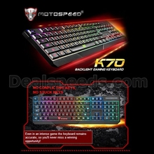 7 Color Backlit MotoSpeed K70 USB Wired Gaming Keyboard