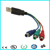 High quality length custom usb2.0 male to 3 rca female usb to rca cable