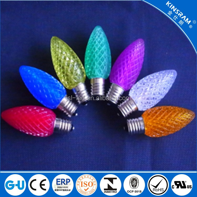 Party decoration Mini Christmas lights Led C7 C9 bulb for outdoor indoor use