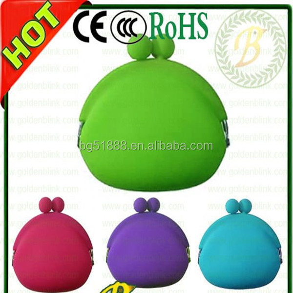 Cheap candy color silicone coin purse / silicone coin wallet / silicone coin bag