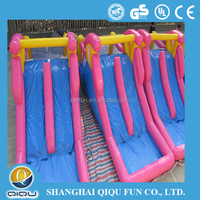 Newest design commercial outdoor giant cheap water dry inflatable slide for kids adult party sale