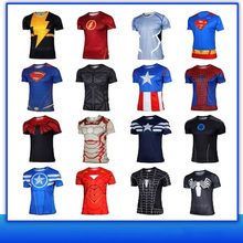 New Product 2016 Superhero Superman Costume Tee Short/Long Sleeve T-Shirt Sports Jersey