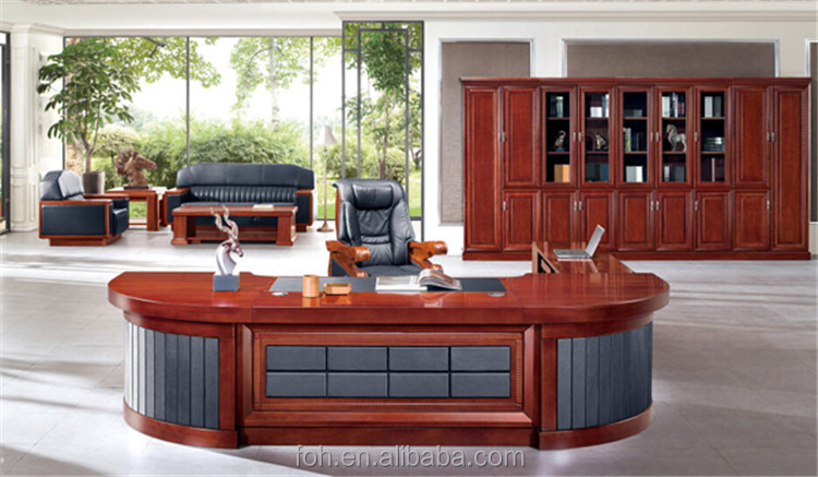 Maple wood executive desk new design office computer table ,Hot sale computer desk FOHA-88423