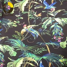 Shaoxing factory polyester lustrous lastest floral printed silk satin charmeuse for Malaysia Thailand lady wear and scarft