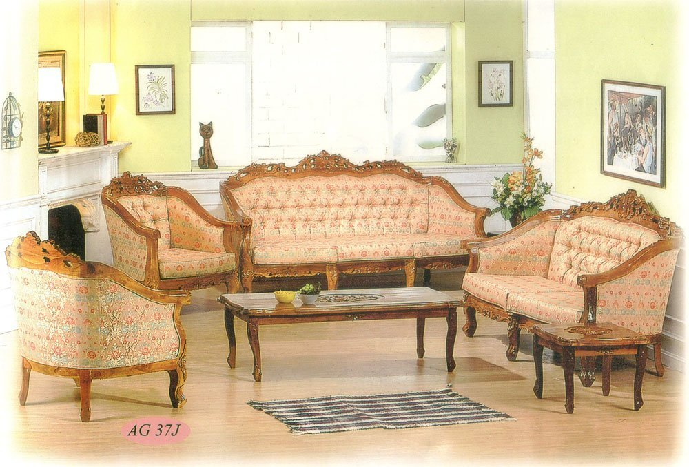 New Ganesha Top Rose Set Sofa Set Teak Indoor Furniture.