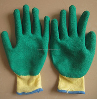 Customized different colors latex coated industrial gloves