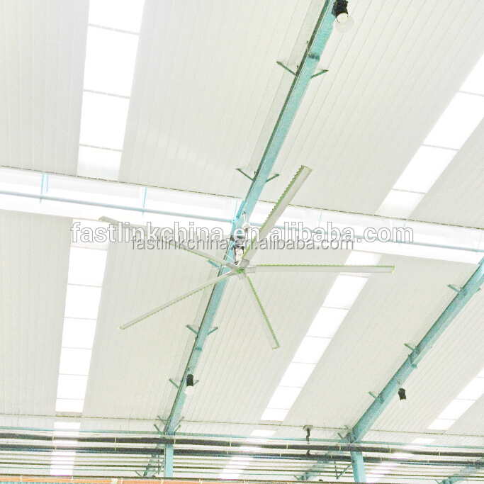 Traditional metal blades big wind industrial HVLS big ceiling fan with good price