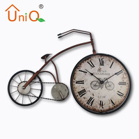 Popular fashion designed metal bicycle table clock