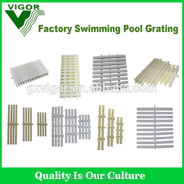 2016 China Factory High Quality ABS material 25cm swimming pool gutter grating swimming pool overflow grating