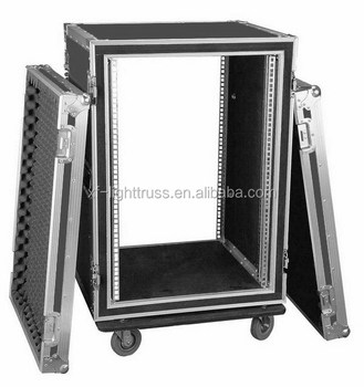 14U 610*680*740mm Anti-shock Rack With Wheels