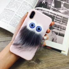 Fashion Brand Fur Monsters leather rivet Cell Phone Cases for iPhone x plus karl studded Cover