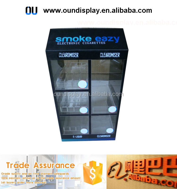 acrylic electric cigarette display stand custom clearomizer e-liquid display