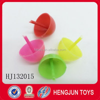 EN71 hot selling small plastic toys peg-top