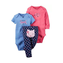 2017 Made in China cotton popular 1 year old baby clothes