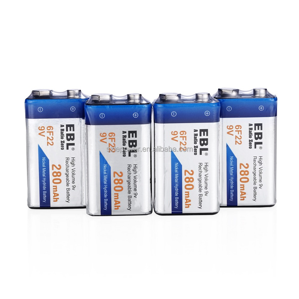 Best quality 9V batteries 280mAh lithium-ion battery for sale