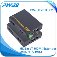 hot selling Pinwei PW-HT201HKM Long Distance 100m HDBaseT HDMI Extender Support USB Keyboard and Mouse