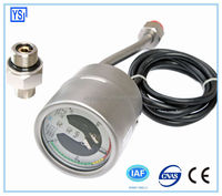Back Connection All Stainless steel Oil filled electric contact gas meter with alarm with flange