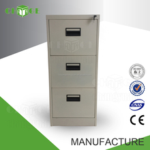 Luxury office furniture metal lockable 3 drawer cabinet