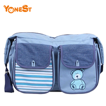 Hot 600D polyester diaper bags mummy baby bag multifunctional