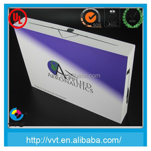 Electronic industry laptop cardboard packaging box with blister