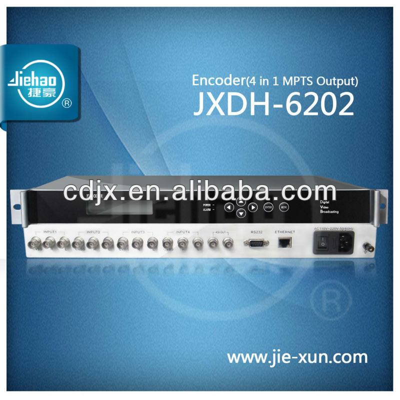 4 in 1 MPTS Output Encoder / 4 in 1 Encoder / 4 A/V Encoder JXDH-6202