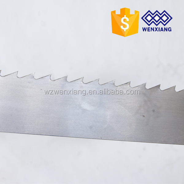 Wide band saw blade for woodworking used for logs