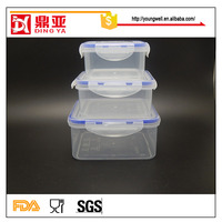 Air Tight Plastic Lunch Box/Kids Lunch Box/Plastic Food Container with Locking Lids