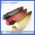 The latest colorful PU flat shoes