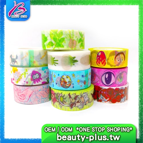 Custom printed paper tape home decor stickers roll masking washi tape