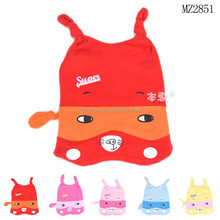 2015 Autumn New Arrival Cute Embroidery Cartoon Pattern Baby Beanie Caps and Hats