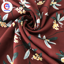 Pure Polyester Woven fashion digital Floral Printed Women Dress Fabric