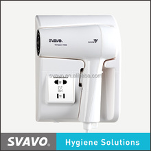 Electric hair dryer with wall mounted LCD display for hotel V-175B