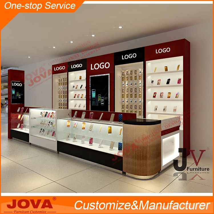 Unique design mobile phone shop interior design for cellphone store