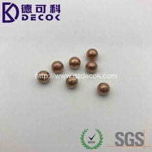 99.9% Small Pure Copper Ball 6mm with 3.1mm Blind Hole