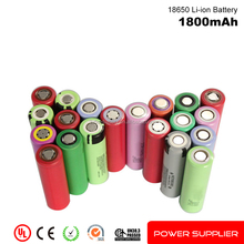 100% High quality rechargeable 18650 cell 3.7v 1800mah li-ion cell battery for Electric products