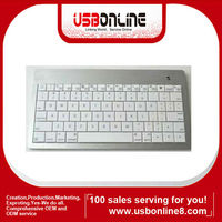 White Bluetooth 3.0 Wireless Keyboard for Apple & Windows