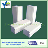 Welded ceramic lining brick for protecting ball mills