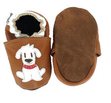 Attractive design germany - soft sole leather baby shoes - Krabbelschuhe Hund Fiffi HEBA-Germany