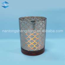 machine pressed laser cut mesh pattern bulk tealight votive candle cup holders