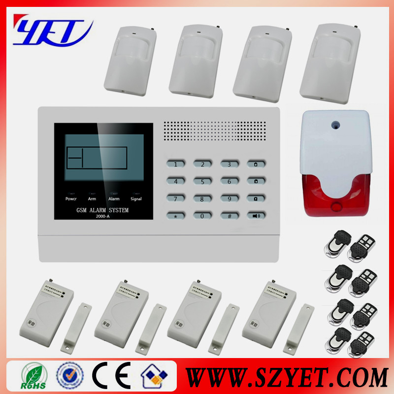 Wireless Home GSM Alarm system with PIR detector
