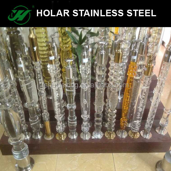 304 stainless steel crystal railing baluster
