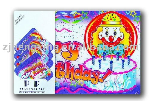 hengxing flexible recycled pp placemat set birthday
