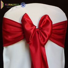 bright color wedding decoration satin belt chair sash cover