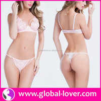 2016 drop shipping ladies sexy white underwear sex bra and panties