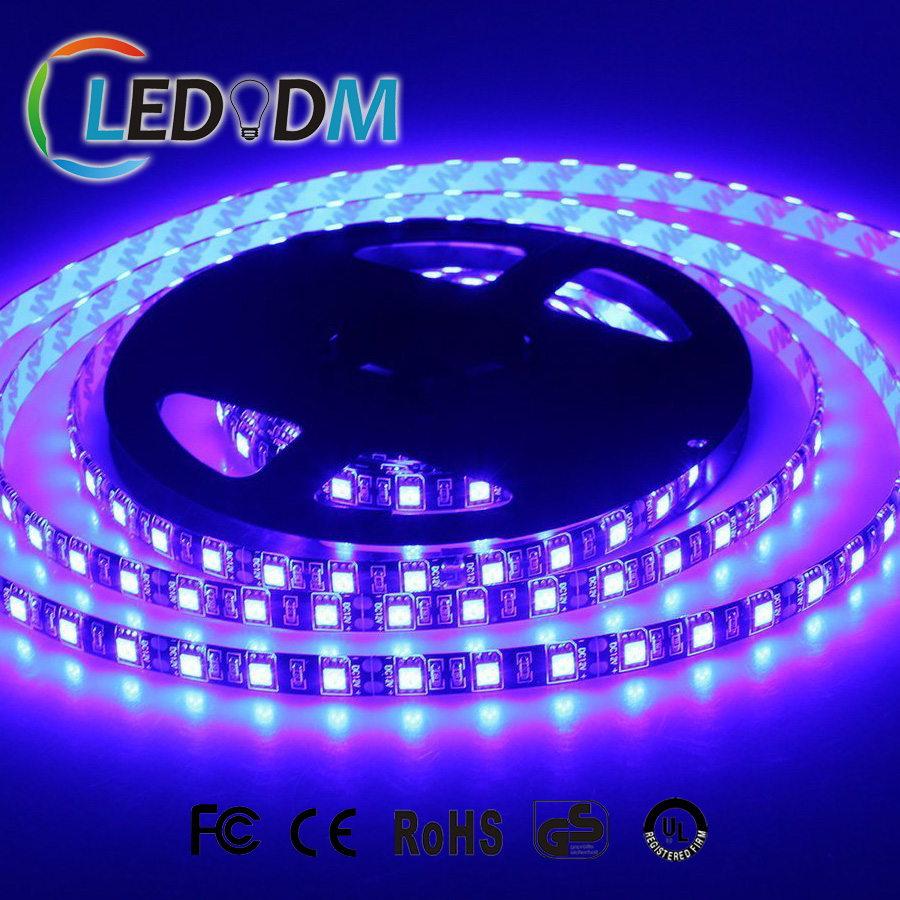SMD 5050 UV Blacklight Waterproof IP65 LED Strip Light390-395nm 395-400nm for Sterilization