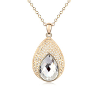 9836 24k gold plated jewellery diamond necklaces prices