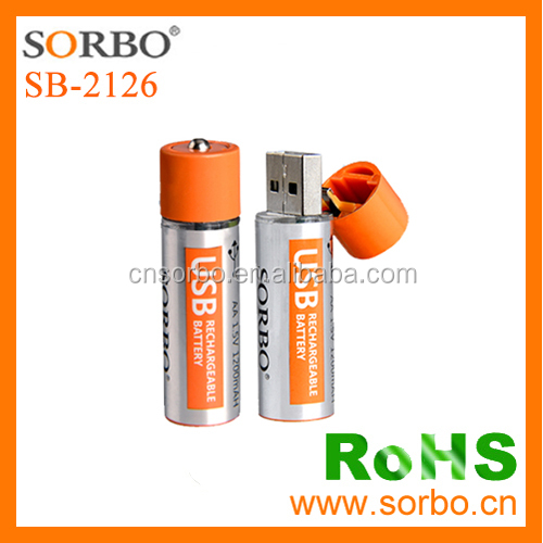 Hot Sale 2016 Popular Technology Lithium Battery Micro USB Rechargeable AA Batteries