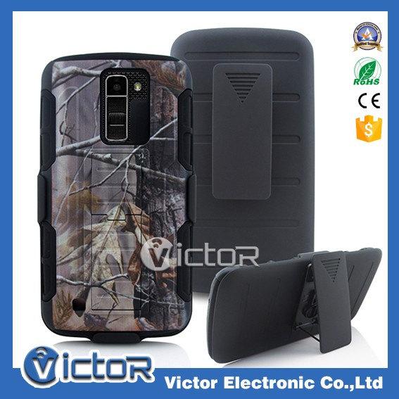 Robot 3in1 holster belt clip cover case for LG K10 with kickstand