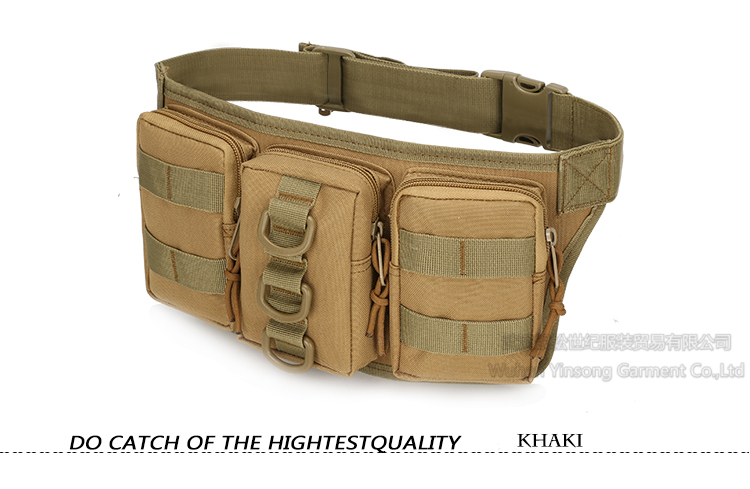 [Wuhan YinSong] Wholesale Waist Bag High Quality Sand Color Camouflage 800D Nylon Waterproof Waist Bag