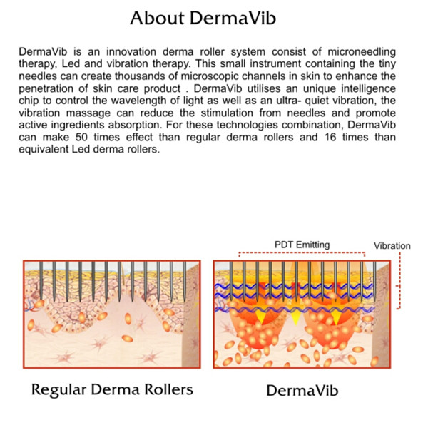 Professional Derma Vib Derma Roller For Skin Care